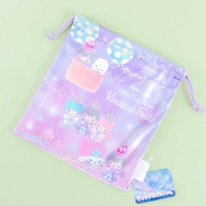 Sanrio Friends & Shouta Aoi Kirakira Festa Drawstring Bag