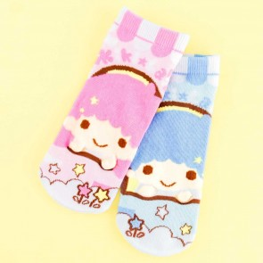 Little Twin Stars Cloud Garden Cotton Socks