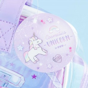 Cosmetic Unicorn Transparent Shoulder Bag
