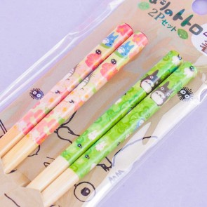 My Neighbor Totoro Flowers & Clovers Chopsticks - 2 pairs