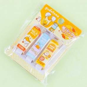 Gudetama Drink Carton Pencil Cap Set