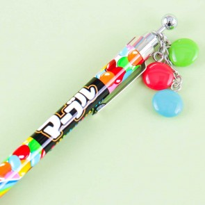 Marble Chocolate Mechanical Pencil With Charm