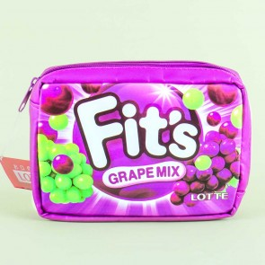Fit's Grape Gum Mix Cosmetic Bag