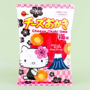Bourbon Hello Kitty Cheese Okaki Rice Crackers - Plum