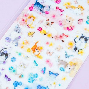 Flower and Cat Stickers