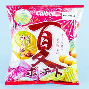 Calbee Summer Potato Chips - Kishu Nanko Plum