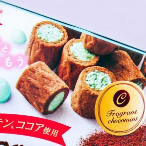 Glico Cream Collon Mint Chocolate Biscuit Rolls