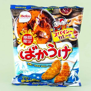 Befco Bakauke Kuriyama Senbei Rice Crackers - Spicy Curry