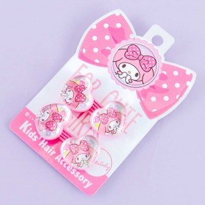 My Melody Heart Charms Hair Tie Set