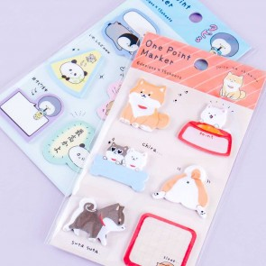 Funny Animals One Point Marker Sticky Notes Set