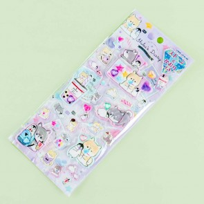 Shiba's Diary Bejeweled Candy Puffy Stickers