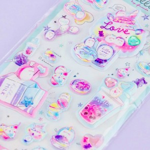 Hello My Friends Bejeweled Puffy Stickers