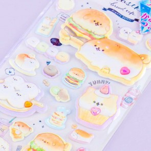 Bejeweled Yeastken Bread Cafe Puffy Stickers