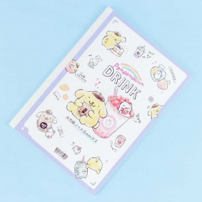 Pompompurin Boba Tea Grid Notebook