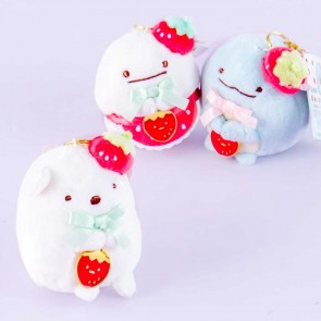 Sumikko Gurashi Strawberry Cafe Plushie Bag Charm