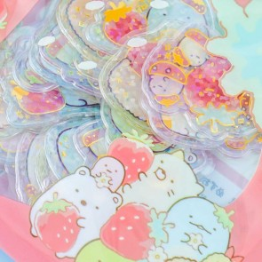 Sumikko Gurashi Strawberry Clear Seal Bits Stickers