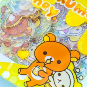 Rilakkuma Honey Clear Seal Bits Stickers