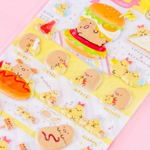 Sumikko Gurashi Burger Meal Puffy Stickers