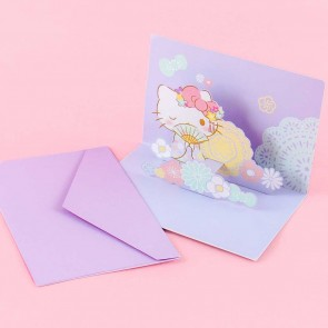 Hello Kitty In A Kimono Pop-Up Greeting Card