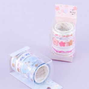 Charming Sakura Die-Cut Washi Tape Set