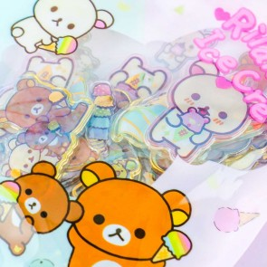 Rilakkuma Ice Cream Clear Seal Bits Stickers