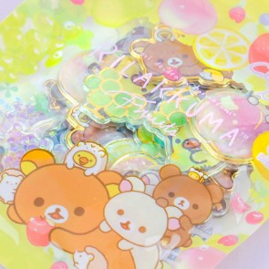Rilakkuma Fruits Clear Seal Bits Stickers
