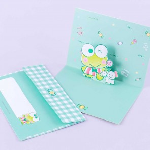 Keroppi Pop-Up Greeting Card