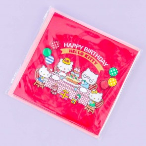 Hello Kitty Birthday Cake Pop-Up Greeting Card