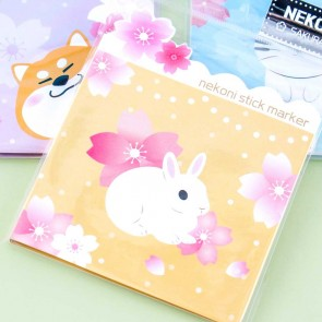 Nekoni Flowery Animal Sticky Notes Set