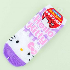 Hello Kitty Purple Gingham Socks