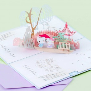 Hello Kitty & Dear Daniel Japanese Garden Pop-Up Greeting Card