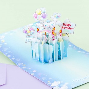 Cinnamoroll Birthday Cake Pop-Up Greeting Card