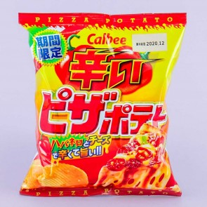 Calbee Spicy Pizza Potato Chips