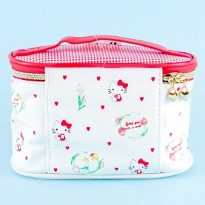 Hello Kitty Hearts Cosmetic Bag With Handle