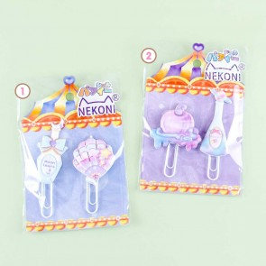 Nekoni Jumbo Galaxy Bookmark Clip Set