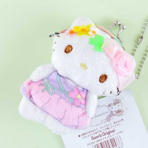 Hello Kitty With Flowers Plushie Coin Purse