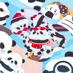 Nekoni Mini Chubby Panda Sticker Flakes