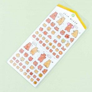 Emotional Brown Bear Stickers