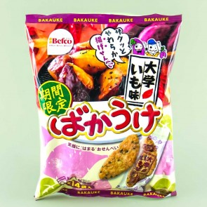 Befco Bakauke Kuriyama Senbei Rice Crackers - Sweet Potato