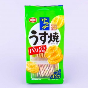 Kameda Thin Grilled Senbei Rice Crackers - Green Salad