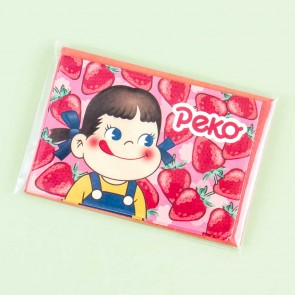 Milky Peko-Chan Strawberry Greeting Card Set