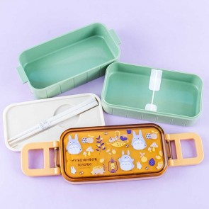 My Neighbor Totoro Autumn Picnic Double Layer Bento Box Set