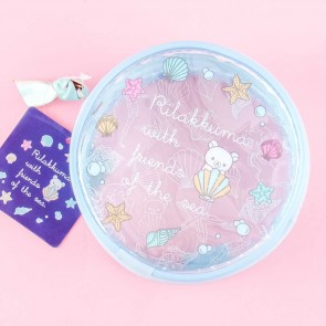 Rilakkuma With Sea Friends Round Pouch