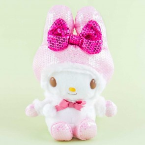My Melody Sparkly Winter Coat Plushie - Medium
