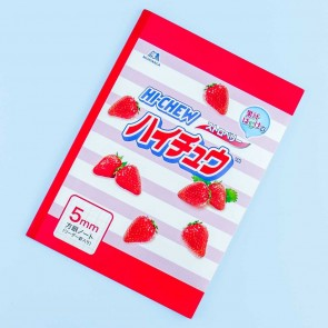 Hi-Chew Strawberry Grid Lined Notebook