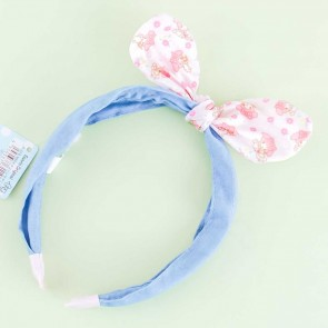 My Melody Denim Headband With Floral Bow