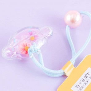 Cinnamoroll Flower Bead Hair Tie