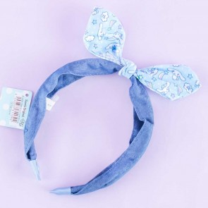 Cinnamoroll Denim Headband With Rainbow Ribbon