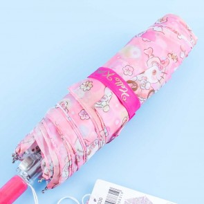 Hello Kitty Perfume Flowers Portable Foldable Umbrella