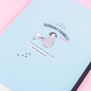 Sunday Family Penguin & Hedgehog Notebook